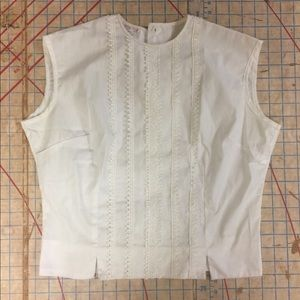 Vintage sleeveless blouse size small